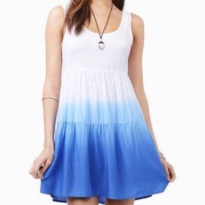 Tobi blue and white dip dyed tank dress. Size S
